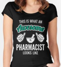 This Is What An Awesome Pharmacist Looks Like Funny Pharmacist Gift Women's Fitted Scoop T-Shirt