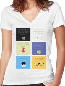Last Words - John Green edition Women's Fitted V-Neck T-Shirt