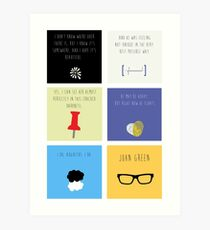 Lámina artística Last Words - John Green edition
