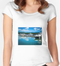 Calm Marina Water Women's Fitted Scoop T-Shirt