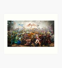 League of Legends - All Champions Art Print