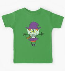 Scary Halloween Witch Emoticon Kids Clothes