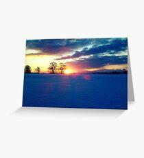 Sunrise. Greeting Card