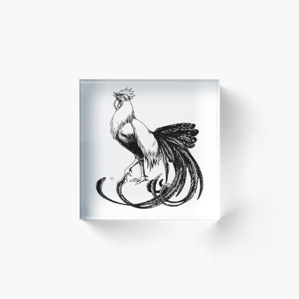 Longtail Rooster  Acrylic Block