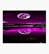 Nights Twilight Purple Sky Photographic Print