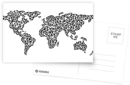 Weltkarte weiß von Bridget Davidson