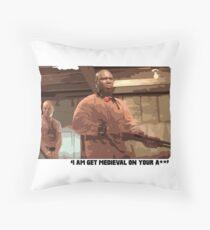 Get Medieval Throw Pillow