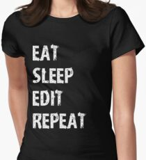 Eat Sleep Edit Repeat T Shirt Film Student Maker Editor You Video Tube Vlog Vlogger T-Shirt
