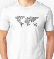 World Map white Unisex T-Shirt