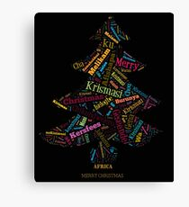 Merry Christmas - African Languages Canvas Print