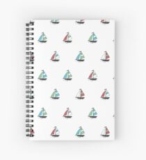 Color boats Spiral Notebook