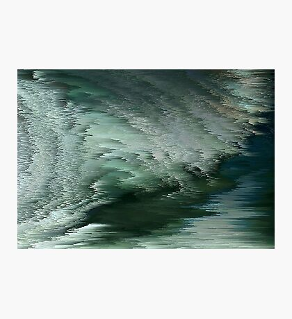 Green waves Photographic Print