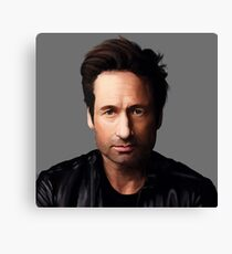 Portrait of David Duchovny Canvas Print