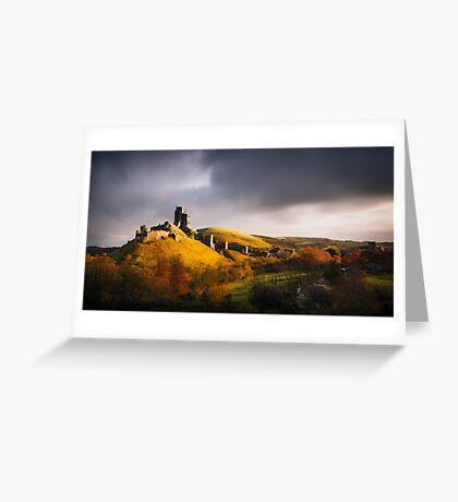 Corfe Castle Greeting Card