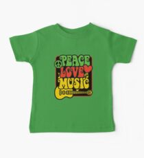 Rasta Peace, Love, Music Baby Tee