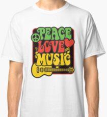 Rasta Peace, Love, Music Classic T-Shirt