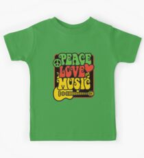 Rasta Peace, Love, Music Kids Tee