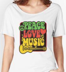 Rasta Peace, Love, Music Women's Relaxed Fit T-Shirt