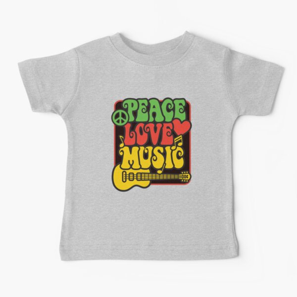 Rasta Peace, Love, Music Baby T-Shirt