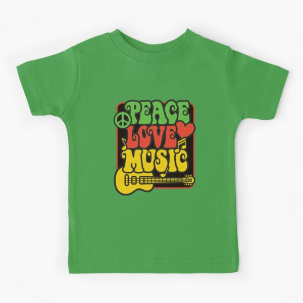 Rasta Peace, Love, Music Kids T-Shirt