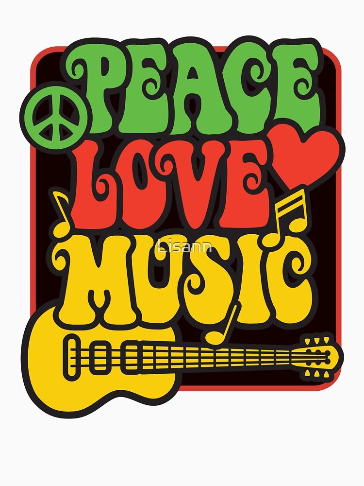 Rasta Peace, Love, Music | Women's T-Shirt