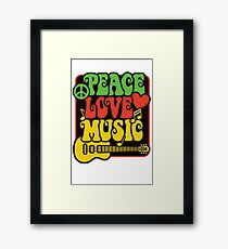 Rasta Peace, Love, Music Framed Print