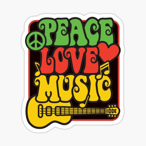 Rasta Peace, Love, Music Sticker