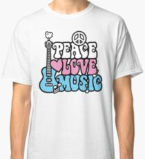 Peace, Love, Music Classic T-Shirt