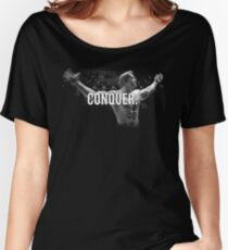 Arnold Schwarzenegger Mr Olympia Conquer  Women's Relaxed Fit T-Shirt