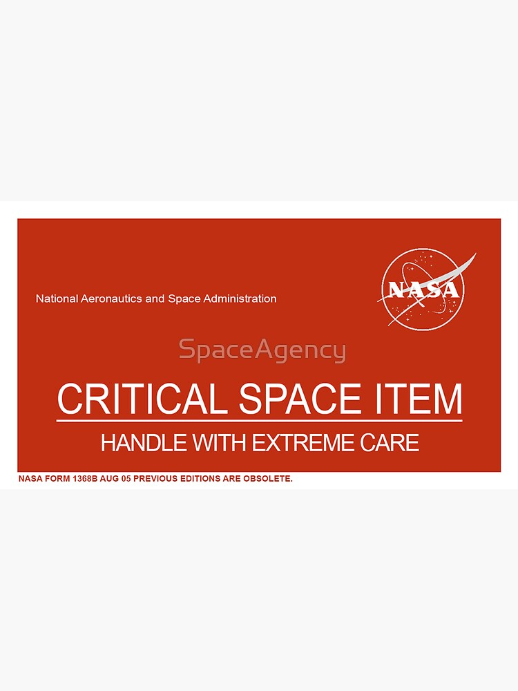 NASA Critical Space Item by SpaceAgency