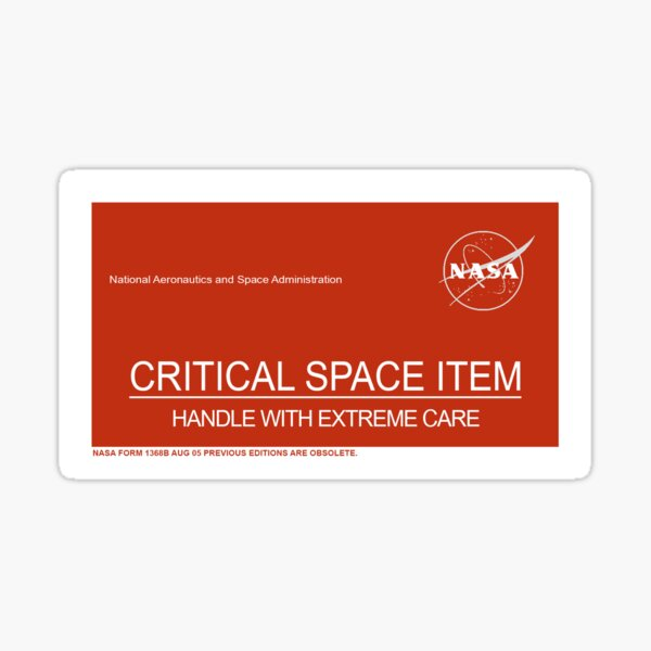 NASA Critical Space Item Sticker
