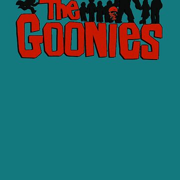 The Goonies logo and characters by gilbertop