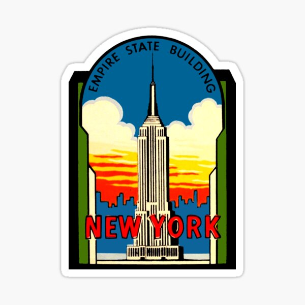 Empire State Building New York City Vintage Travel Decal Sticker
