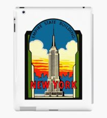 Empire State Building New York City Vintage Travel Decal iPad Case/Skin