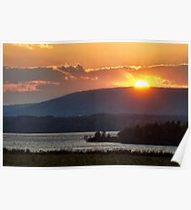 Sunset over Annapolis River Poster