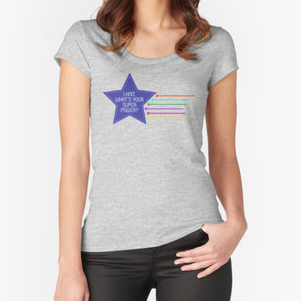 I knit. What's your super power? Fitted Scoop T-Shirt