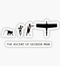 The Ascent of Geordie Man Sticker