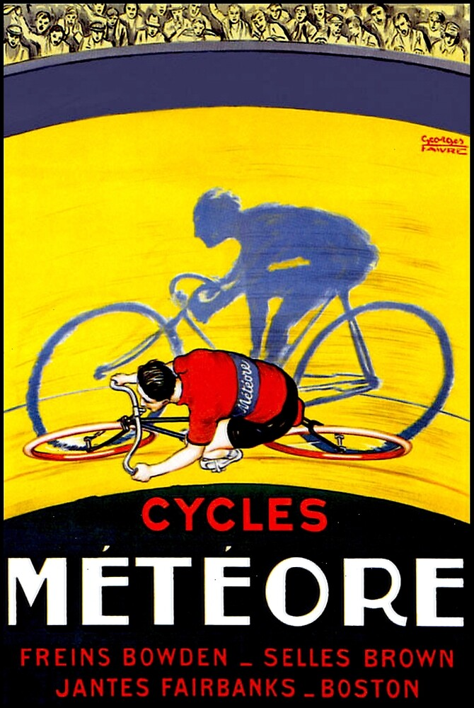 TOUR DE FRANCE; Meteore Bicycle Racing Print by posterbobs
