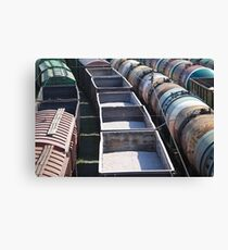 transportation of goods by rail Canvas Print