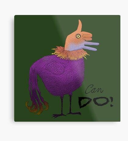 Can Do Thumbs Up Bird Metal Print