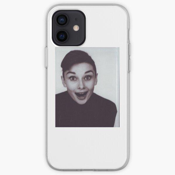 audrey hepburn candid fun iPhone Soft Case