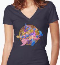 Toon Dark Magician Girl Women's Fitted V-Neck T-Shirt