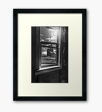 View from the General Store - BW Framed Print