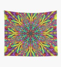 Crazy colors 3D mandala Wall Tapestry