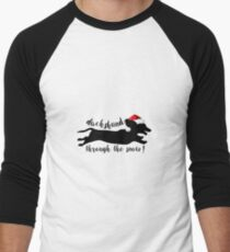 dachshund through the snow Men's Baseball ¾ T-Shirt