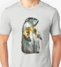 Winter Woodchuck (aka Groundhog) T-Shirt