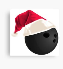 Christmas Bowling Gifts Canvas Print