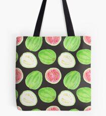 Bright watercolor tropical fruit pattern, guavas Tote Bag