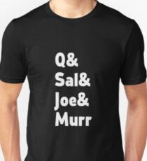 Impractical Jokers Line-Up (Font 2) (White Text) T-Shirt