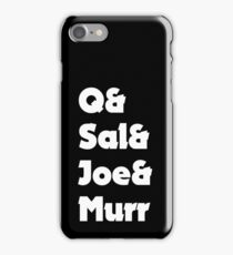 Impractical Jokers Line-Up (Font 3) (White Text) iPhone Case/Skin